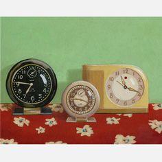 Vintage Alarm Clocks Still Life now featured on Fab.