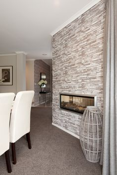 The modern two way gas fire! keeping you warm in winter and looking great all year round!