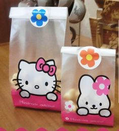 50pcs/lot 2 size hello kitty and little rabbit plastic bags  packaging bags pouches wrappers cupcake  Free shipping-in Event & Party Supplies from Home & Garden on Aliexpress.com   Alibaba Group