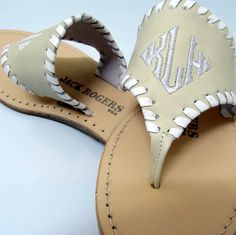 Jack Rogers monogram sandals