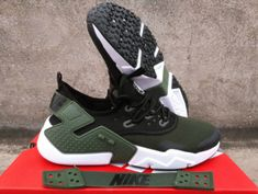 7ec6cacb7825e1 New 2018 NIke Air Huarache Drift PRM Men s Running Sports Shoes Army Green  AH7334 300