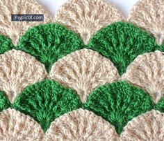 Ooo - I LOVE this! Crochet Textured Shell Pattern: Diagram step by step instructions Via My Picot - Picot Crochet, Crochet Afgans, Crochet Motifs, Crochet Stitches Patterns, Love Crochet, Beautiful Crochet, Crochet Designs, Crochet Yarn, Knitting Patterns