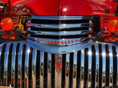 Closeup of the grill on a 42 Chevy truck. 1946 Chevy Truck, Chevrolet Trucks, New Trucks, Custom Trucks, Classic Pickup Trucks, Old Pickup, Truck Art, Chevy Pickups, Truck Camper