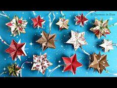 Decora tu Árbol de Navidad con Estrellas de Papel Scrapbook, Manualidades para Navidad - YouTube