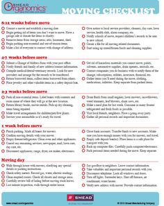 Checklist: Planning Your Move Repinned by www.movinghelpcenter.com Follow us on Facebook!