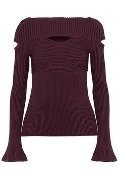 Burgundy jersey  Slips on 83% viscose, 17% polyester Dry clean Designer color: Currant