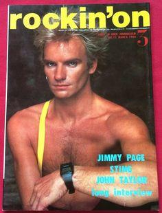 rockin'on Japan Music Magazine 3/1984 Duran Depeche Mode Sting Jimmy Page Wham!