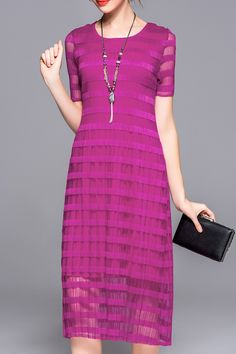 vibrant dress with striping