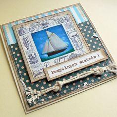 żagle,wiatr,życzenia,morska,imieniny,urodziny - Kartki okolicznościowe - Akcesoria w ArsNeo Nautical Cards, Cardmaking, Frame, Decor, Picture Frame, Decoration, Decorating, Frames, Card Making
