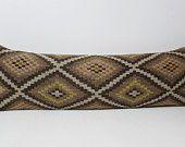 16x48 prehistoric kilim pillow long body pillow large outdoor pillow large couch pillow king size bedding long lumbar pillow lumbar sham K89