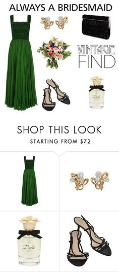"""Vintage Bridesmaid"" by romaosorno ❤ liked on Polyvore featuring Dolce&Gabbana, Giorgio Armani, Nina and vintage"