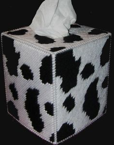 Tissue Box Cover COW PRINT by NiftyStitches4U