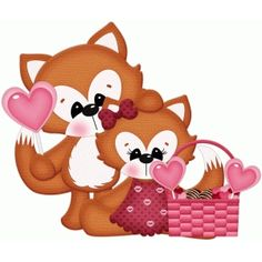 Silhouette Design Store: valentine fox couple pnc