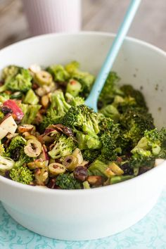 Broccoli Apple and Almond Salad | by Sonia! The Healthy Foodie. Love, Sarah #broccolirecipes www.goachi.com