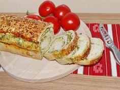 Rulada in crusta de seminte, umpluta cu branza, ceapa si leurda Romanian Food, Avocado Toast, Banana Bread, French Toast, Appetizers, Breakfast, Desserts, Recipes, Salads