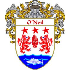 O'Neil Coat of Arms http://irishcoatofarms.org/ has a wide variety of products with your surname with your coat of arms/family crest, flags and national symbols from England, Ireland, Scotland and Wale