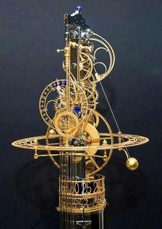 Astonishing and artful kinetic clocks created by Miki Eleta - Steampunk Daily Steampunk Accessoires, Mechanical Art, Cool Clocks, Kinetic Art, Sistema Solar, Antique Clocks, Dieselpunk, Instruments, Sculpture