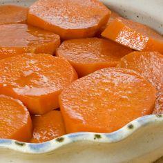 An easy tasty recipe for Glazed Sweet Potatoes. Glazed Sweet Potatoes Recipe from Grandmothers Kitchen.
