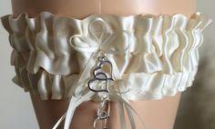 Ivory Wedding Garter Bridal Garter Prom by WeddingGarterStore