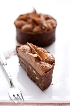 Chocolate Mousse, Salted Caramel Ganache, Peanut and Banana Caramel Tarts :: Cannelle et VanilleCannelle et Vanille
