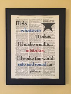 I'll make the world safe and sound for you - Hamilton Musical; Hamilton Gifts, Hamilton Quotes, Hamilton Fanart, Hamilton Musical, Patiently Waiting, Reading Intervention, What Is Your Name, Gifts For Readers, Used Books