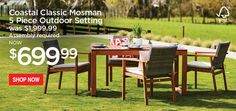 This dining set is made in a beautiful combination of FSC certified Eucalyptus wood and a high quality resin wicker with UV protection. The chair had ...