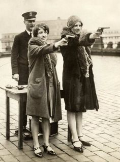 1920s. Teach your women to shoot!