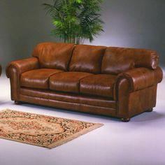 Omnia Furniture Winchester Cheyenne Leather Sofa