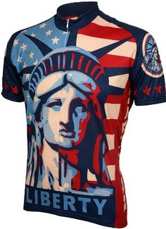 Statue of Liberty Mens Cycling Jersey bike bicycle : Amazon.com : Sports & Outdoors