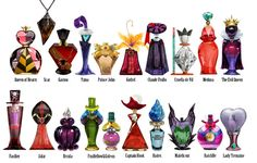 Japanese designer, Ruby Spark created these Disney Villain inspired perfume bottles. disney-villain-perfume-bottles.jpg