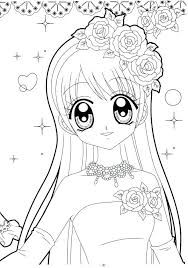Image Result For No Color Anime Drawings Coloring Pages For Girls Cute Coloring Pages Mermaid Coloring Pages