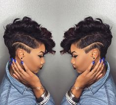 "RPGSHOW on Instagram: ""#hairinspiration #naturalhair YAY Love that fierce look with the full top! ✅✅✅✨✅✅✅ @khimandi #edgystyle #hairstyles #pixie #haircut #shorthair #instagood #inspiration"""