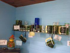 Algunos de nuestros trabajos. Reciclado de botellas de vidrio.
