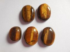 CAB Natural Gemstone Oval Cabochon Flat Back Beads For Jewelry Making