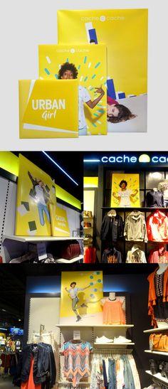 PLV Cadres - Cache Cache / Photo: Beausoleil France #PLV #UrbanGirl #Fashion #cachecache