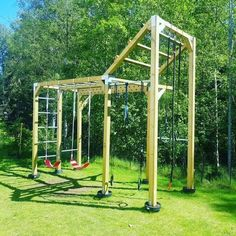Backyard Fort, Backyard Obstacle Course, Backyard Trampoline, Backyard Trees, Swimming Pools Backyard, Backyard For Kids, Tree House Playground, Backyard Playground, Outdoor Garden Rooms