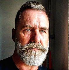 My beard and I say hello. Beard And Mustache Styles, Beard No Mustache, Hair And Beard Styles, Handlebar Mustache, Handsome Bearded Men, Beard Haircut, Grey Beards, Men With Grey Hair, Awesome Beards
