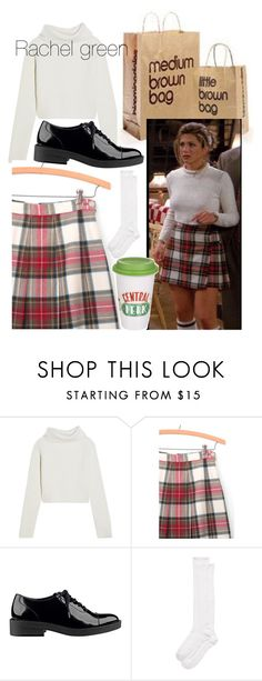 """""""Favourite character: Rachel Green"""" by sophasaurus ❤ liked on Polyvore featuring Haider Ackermann, GUESS and Kate Spade"""