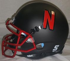 Nebraska Cornhuskers Helmet Schutt Replica Mini Black Alternate Red Chrome Guard