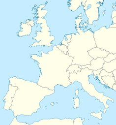 Western Europe Maps Europe Maps Pinterest - Map of western europe