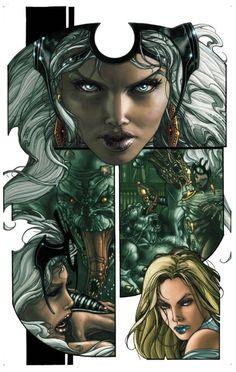 Astonishing X-Men interior art by Simone Bianchi Comic Book Artists, Comic Book Characters, Comic Artist, Marvel Characters, Comic Character, Comic Books Art, Wolverine, Storm Marvel, Storm Xmen