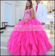 Hot Pink Real Images Crystal Quinceanera Dresses 2016 Ball Gown Sweetheart Plus Size Sweet 18 Communication Birthday Party Prom Dresses 2015 Quinceanera Dresses High Neck Quinceanera Dresses Gothic Prom Dresses Online with $249.15/Piece on In_marry's Store | DHgate.com