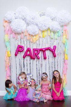 Pillow Thought: Lexi's Unicorn Birthday Party 5th Birthday Party Ideas, Fairy Birthday Party, 10th Birthday, Rainbow Unicorn Party, Rainbow Theme, Welcome Home Parties, Unicorn Themed Birthday, Troll Party, Golden Birthday