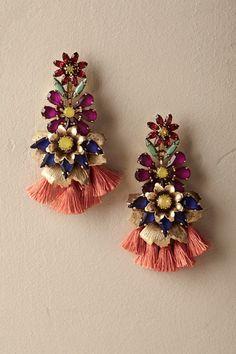 Gold Anouk Tassel Earrings   BHLDN
