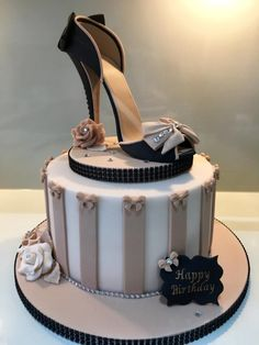 Sugar Shoe Birthday Cake. by Lorraine Yarnold
