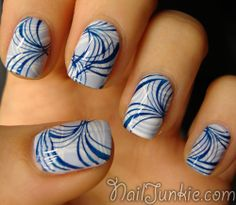 Nail stamping idea: combine 2 colors