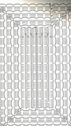 A Beaut Oval Rug [Free Crochet Pattern A - Diy Crafts - maallure Crochet Scarf Diagram, Crochet Purse Patterns, Filet Crochet, Crochet Motif, Crochet Doilies, Crochet Tablecloth Pattern, Diy Crafts Crochet, Crochet Home, Crochet Carpet