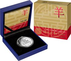 2015 $1 #Lunar #YearOfTheGoat 1oz #Silver Proof #Coin. Combining elements from the annual Lunar Series and newly released Prestige Series to create an exquisite coin. The Chinese Zodiac, Sheng Xiao, has its basis in a twelve-year cycle. Each year is represented by one of twelve animals with unique personality traits, with these characteristics being passed on to people born in that year.