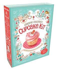 Children's Cupcake Kit A fantastic kit containing a 64 page recipe book, enough prettily decorated cupcake cases (in two sizes) to make each recipe at least once, and delightful cupcake toppers
