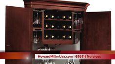 Howard Miller Wine & Bar Corner Cabinet | 695111 Norcross - VIDEO Demo